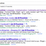 Google search snippet for &quot;Ian M Rountree&quot;