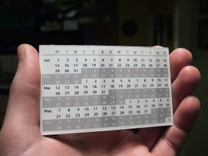 Compact Calendar - Joe Lanman | Flickr