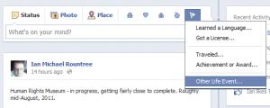 Facebook Timeline Update Box | Ian M Rountree - Facebook